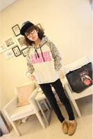 Korean women's spring  autumn fashion leopard sweater shirts