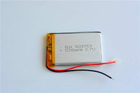 High Capacity 5pcs/Lot 503759 Li-Po 3.7V 1200mAh Polymer Lithium Rechargeable Battery For video camera MP4/5