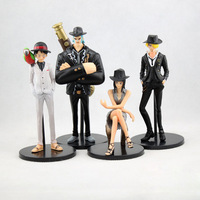 EMS 20Sets 10-15cm Anime One Piece POP SUIT&DRESS Luffy Sanji Robin Frank PVC Acton Figure Model Collection Toy 4pcs/set