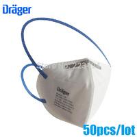 50 Pcs/lot drager original disposable masks particulate respirator anti-fog/haze/PM2.5 mask headband 1190 free ship ZSY012915