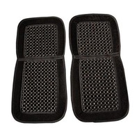 Newest Hot Sale High Quality A Pair of Black Car Bead Cushion Universal Black Wooden Beaded Car Massaging Seat Cover
