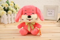 wholesale 2015 new playful dog plush doll wedding gift Annual Meeting activities stuffed toy pink and brown