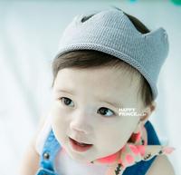 Children kids baby boys girls Stereo small infant knitted hat visor prince princess style hat