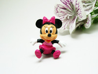 Minnie mice Mouse Charm ~10 pieces~ Pendant (deep pink bow) Lovely Fashion Gifts AMK961 Wholesale
