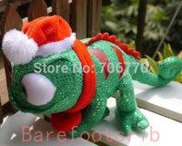 "New Original~~Princess Tangled Rapunzel's Friend ~Pascal~~ the  Chameleon 7"" Plush Christmas Verson~ Stuffed  doll FREE SHIPPING"