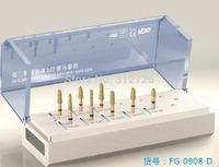 Dental inlay preparaton kit - for dental high-speed straight handpieces use - High temperature sterilization bracket