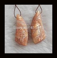 Sunstone Earring Bead,38x14x5mm,8.8g