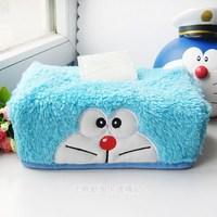Cartoon Doraemon Creative Blue Plush Towel Tissue Box Free Shipping