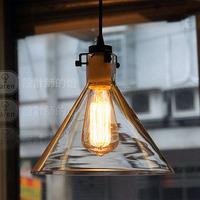 Nordic IKEA Lamps Modern Minimalist American Bar Single-Head Chandelier Crystal Lamp Funnel Free Shipping