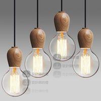 2014 Creative Designer Lamps Minimalist Home lights Japanese American Retro Bedroom Wood Single-Head Wood Chandelier