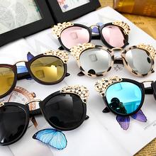 New 2015 Luxury quality Sunglasses Women Jewelry Sun glasses Flower Decoration Vintage Shades European style oculos