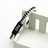 Tokyo ghouls zipper black and white color bracelet DJS12