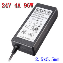 New Arrival AC Universal 100V-240V for DC 24V 4A 96W Power Supply Charger Converter Adapter For LED Strip 2.5×5.5mm