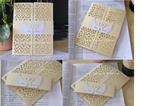laser cut wedding invitations gold 100pcs,wedding invitation covers&wedding invitation sleeve