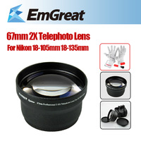 New Arrival BANNER 67mm 2.0X Telephoto Lens for Nikon 18-105mm 18-135mm + Cleaning Kit(GIFT) 130927043W