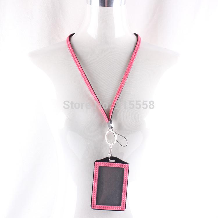 New Resin Rhinestone Crystal Bling Lanyard ID Badge Holder Keys Cell Phone ipod lanyard O103(China (Mainland))