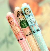 12Pcs/Lot Korea style Stationery cute doll girl design gel pen 0.38mm FreeShipping