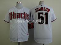 Arizona Diamondbacks #51 Randy Johnson Authentic Embroidery and stitched onfield Cool Base Baseball Jerseys Top Quality