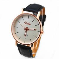 hot saels pu leather band dalas brand quartz movement wrist lady vogue watch