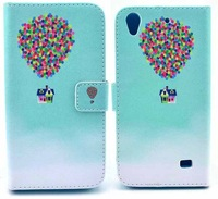 For Huawei Ascend G620s C8817D Honor 4 Play cell phones bag flower cartoon colorful Wallet leather case cover
