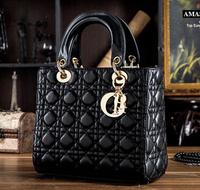 The new tide of women's handbags bags sheepskin leather socialite Lingge  shoulder bag lady fashion