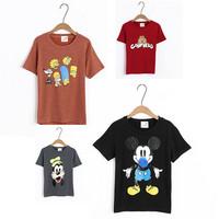 New Arrive tshirt Cartoon Mouse Cat Dog Print Harajuku Women T shirt Casual Cotton 13 Styles Fashion Ladies Tops Tees 30449