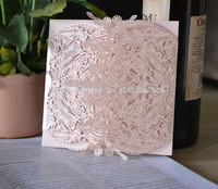 2015 peach wedding laser cut invitation,fuzzy peach wedding invitation cards