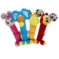 Niuniu Daddy Baby rattles Plush animal toys baby education toy free shipping
