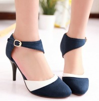 Dropshipping New Fashion Sexy Faux Suede Women Ladies Pointed Toe High Heel Sandals Pump Wedding Shoes Sz