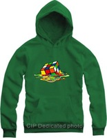 New Spring 2015 Brand Hip-hop skateboard TBBT Sheldon Rubik's cube sweatshirt Hoodie Men,sport suit men