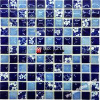 Blue porcelain mosaic kitchen backsplashl tile PCMT126 swimming pool tile bathroom floor tiles ceramic wall tiles
