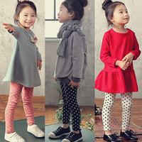 Pls buy any 2pcs in shop 2015  autumn Size100~140 girls leggings children pants child trousers dots legging