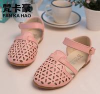 [Sashine kids]Retails+free ship!2015 spring summer children girls outing shoes kids girls sandals for baby girls fresh PU shoes