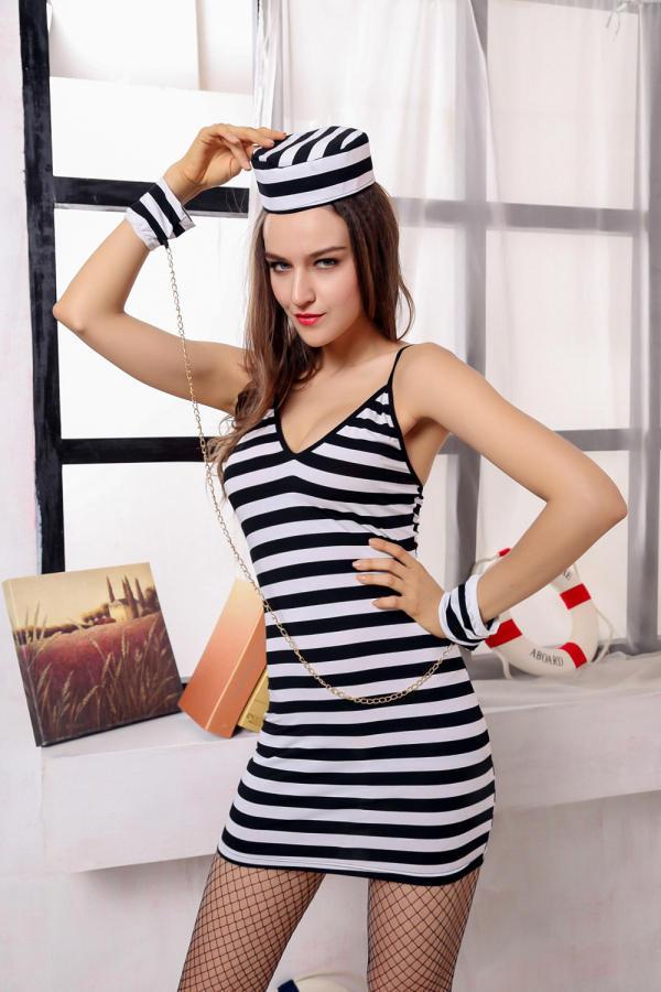 Halloween Costume Black And White Stripes Black And White Stripes Female