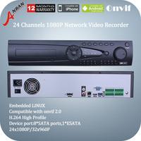 Anran 1080P AR-NVR7124K-P 24CH NVR HD Digital Network Video Recorder HDMI VGA 720P/1080P Video Surveillance Support ONVIF Output
