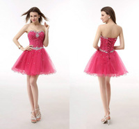 Best Selling A-Line Homecoming Dress Sweetheater Sleeveless Crystal Beading Organza Celebrity Dresses Custom