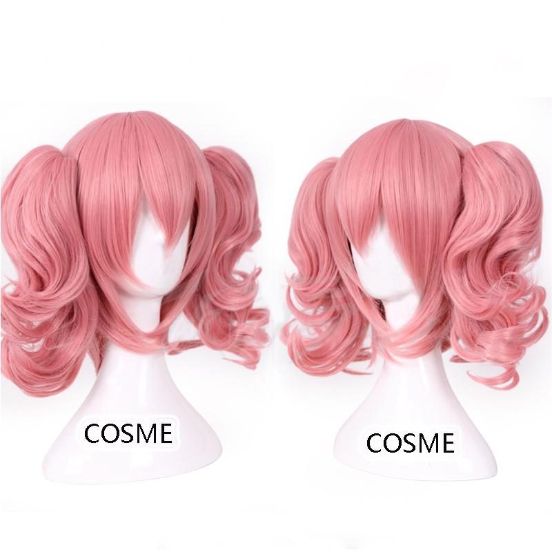 Free shipping Inu X Boku SS Roromiya Karuta Cosplay wig Heat resistant fibre hair Pink Anime Cosplay wig Party wig(China (Mainland))