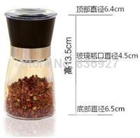 spice and pepper shakers bottle Pepper grinder grinding bottles pepper mill manual 150ml