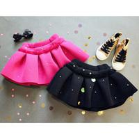5pcs/lot 2015 spring autumn girls fashion solid tutu skirt kids hot pink black princess skirts 1167