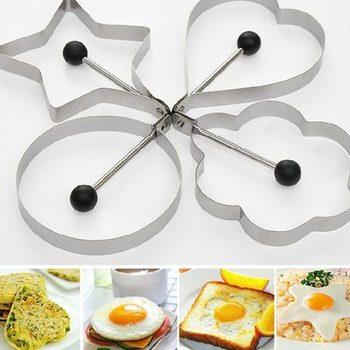 Прекрасный 4 шт. кухня из нержавеющей стали блин плесень кольцо кулинария жареное яйцо формирователь комплект NIVE