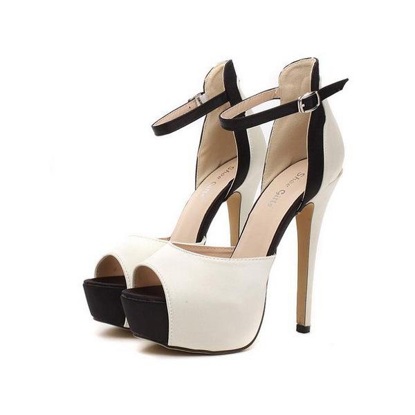 Big Size 35-42 Fashion 2015 1 Pair Womens High Heels Peep Toe Womens Pumps Stilettos Platform Sexy Ladies Party Shoes(China (Mainland))