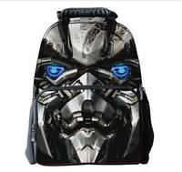 The Transformers Children Schoolbag 3D lifelike Cool Felt Backpacks Outdoor School Bag Travel Bag Multifunction Shoulder  Bag