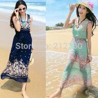 New arrival summer dress 2015 summer chiffon one-piece dress bohemia chiffon one-piece dress sand beach skirt female full dress