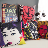 "Pop Style Scrawl Throw Pillow Case Home Decor Cushion Cover Square 18"" 45cm"
