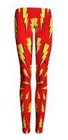 Hot Sale Fashion 2015 Brand Fitness Elastic Yellow Lightning Printing Leggings For Women Sport Leggings Casual Pants S106-638