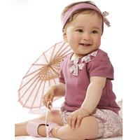 2015 Baby Girls T-shirt + short-sleeved Floral Shorts Small Shorts Suits Baby Girls Suit