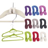 candy color mini creative cloth hanger,flocking clothes hanger flocking holder mini Anti-Clip Pp hook 10pcs/lots