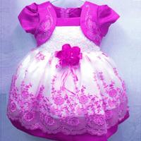 Kids Girls Dresses Floral Chiffon Dress Costume Princess Party Dresses Size 1-4Y