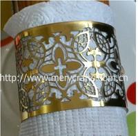 Wholesale cheap flower shape napkin ring for wedding