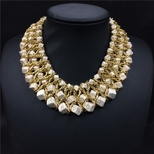 HandWoven Turquoise Collar Necklace For Women Fashion Jewelry Choker Statement Necklace 2015 New Design